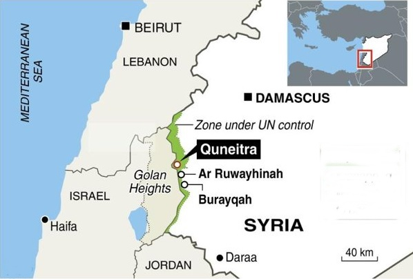 Image result for map of Quneitra Syria