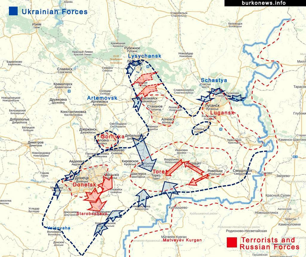 MoA July 2014 – Map Ukraine Fighting